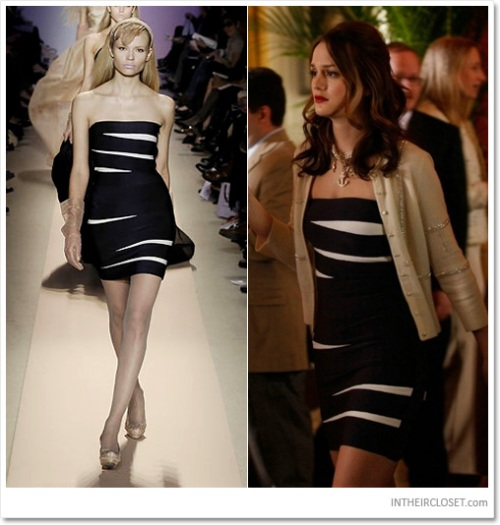 blair-waldorf-leighton-meester-herve-leger-fall-2008-navy-white-bandage-dress