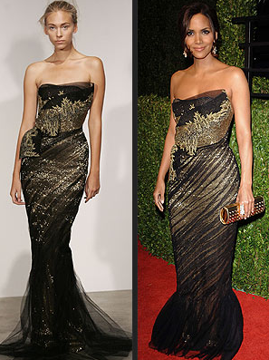 Halle Berry by Marchesa