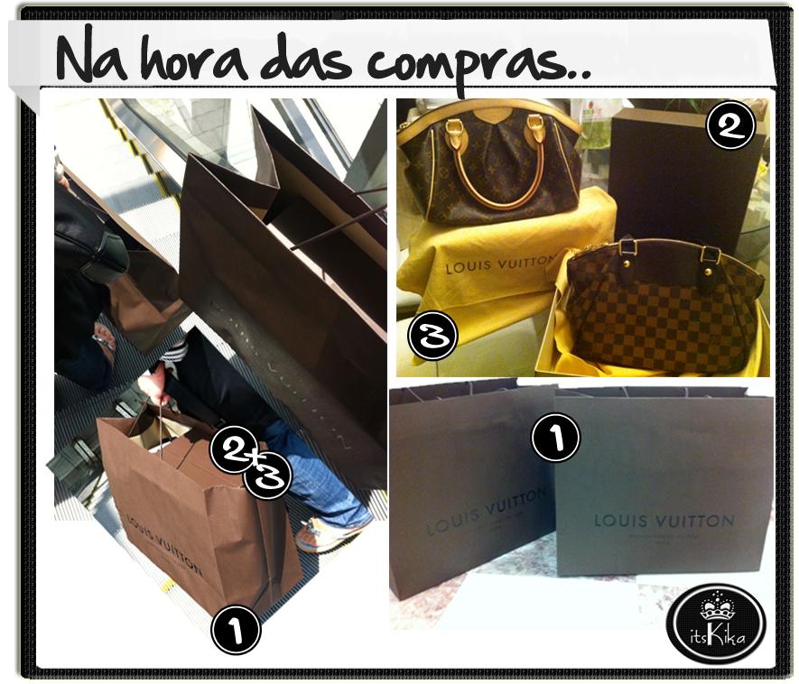 3dbe09e16 Louis Vuitton é marca Premium e suas bolsas só vendem em lojas próprias.  Aqui no Brasil encontramos as lojas em São Paulo, Rio de Janeiro e Brasília  e em ...