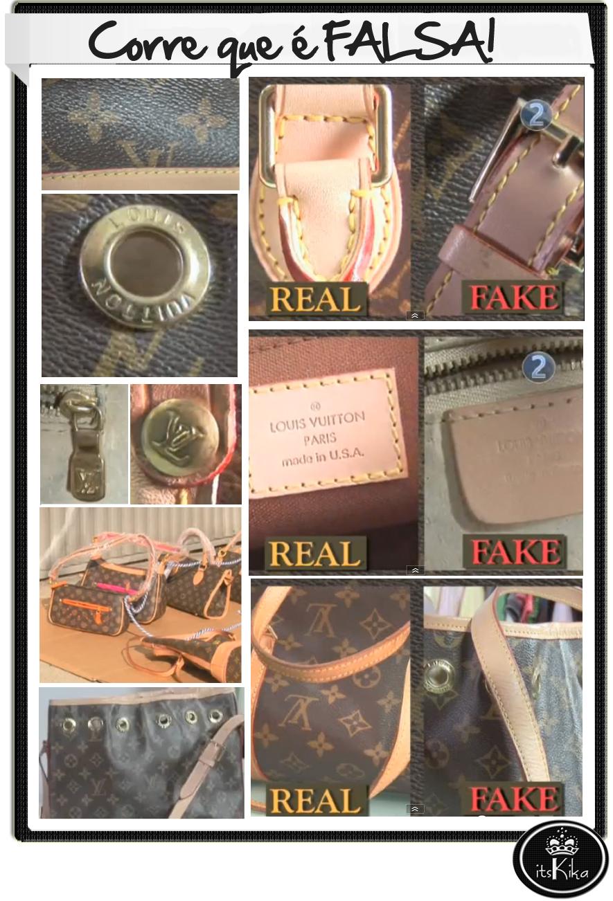 Aprenda a identificar uma Louis Vuitton Falsa!  86a127d2e33